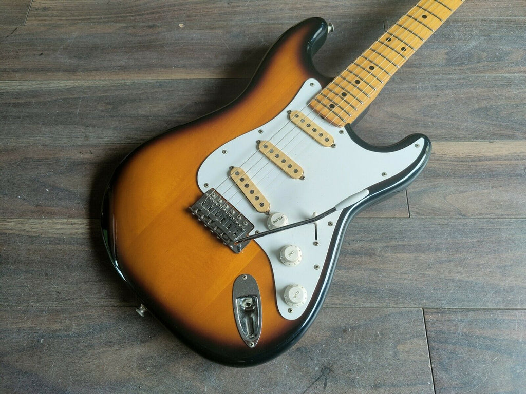 1977 Aria Pro II Japan ST-600 Stagecaster Stratocaster (Brown Sunburst)