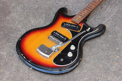 1960's Teisco V-2 Mosrite Style Guitar Vintage Electric Guitar (Made in Japan)