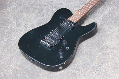 1985 Fender TL-555 Boxer Series Japan HH Telecaster (Black)