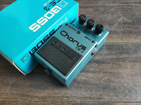 1983 Boss CE-3 Stereo Chorus MIJ Japan Vintage Effects Pedal