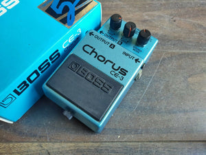 1987 Boss CE-3 Stereo Chorus MIJ Japan Vintage Effects Pedal w/Box