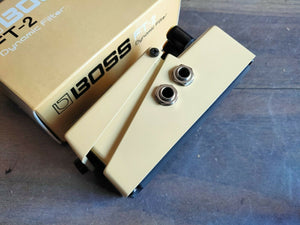 1986 Boss FT-2 Dynamic Filter Wah MIJ Vintage Effects Pedal w/Box & Paperwork