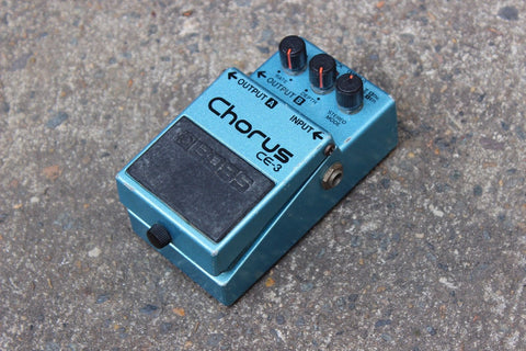 1980's Boss CE-3 Stereo Chorus MIJ Japan Vintage Effects Pedal