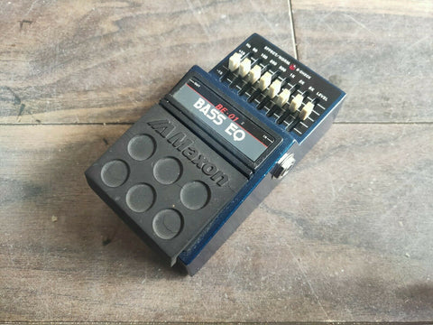 1980's Maxon BE-01 Bass Equalizer EQ MIJ Japan Vintage Effects Pedal