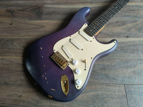 1990's Fernandes Japan P-Project Stratocaster (Colour Shift Purple/Blue)
