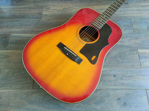 1970's Greco Japan F-180 Acoustic Guitar (Sunburst)