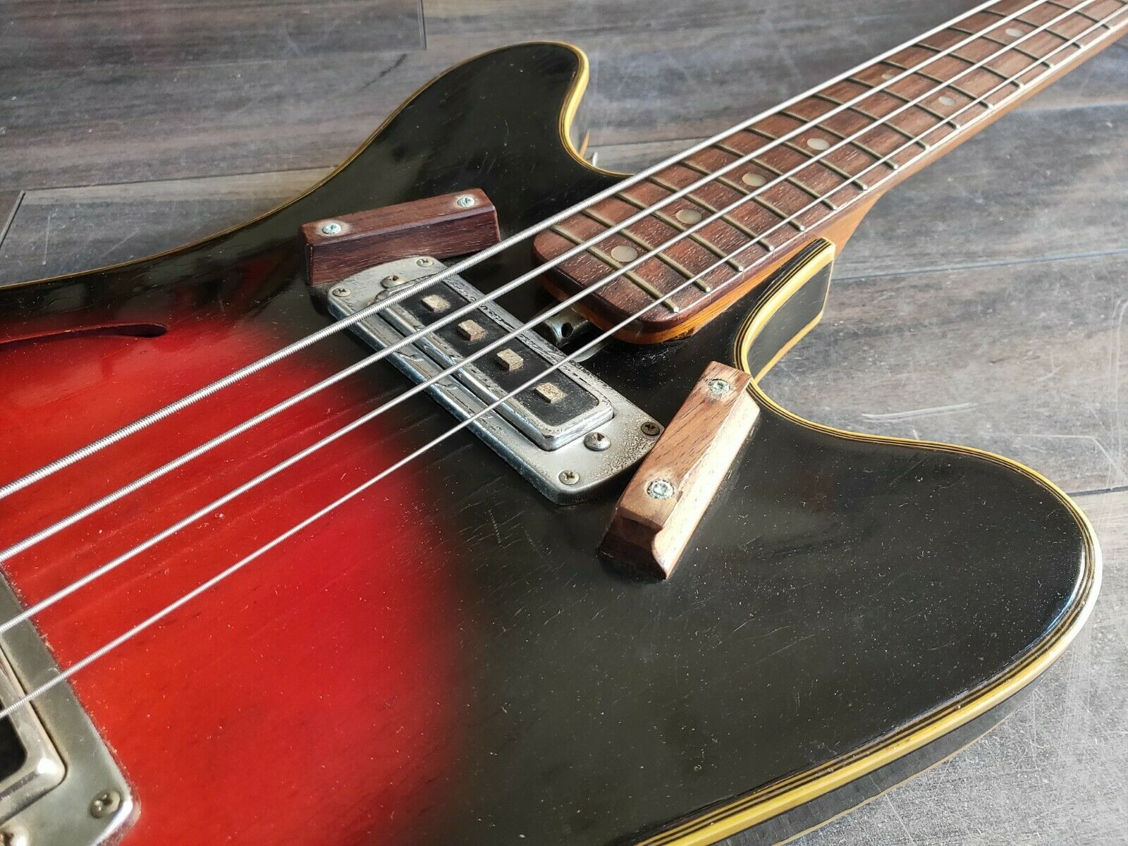 1960's Teisco EP-200B Hollow Body Short Scale Bass (Made in Japan)