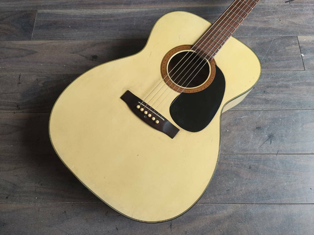 1970's Aria Japan Steel String Acoustic Guitar (White)