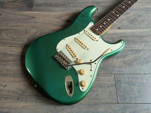 "1992 Fender Japan ""Order Made"" '62 Reissue Scalloped Stratocaster Sherwood Green"
