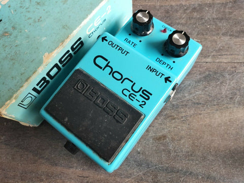 1981 Boss CE-2 Analog Chorus MIJ Japan Vintage Effects Pedal w/Box