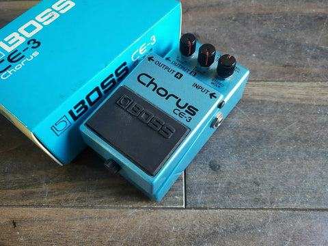 1987 Boss CE-3 Stereo Chorus MIJ Japan Vintage Effects Pedal