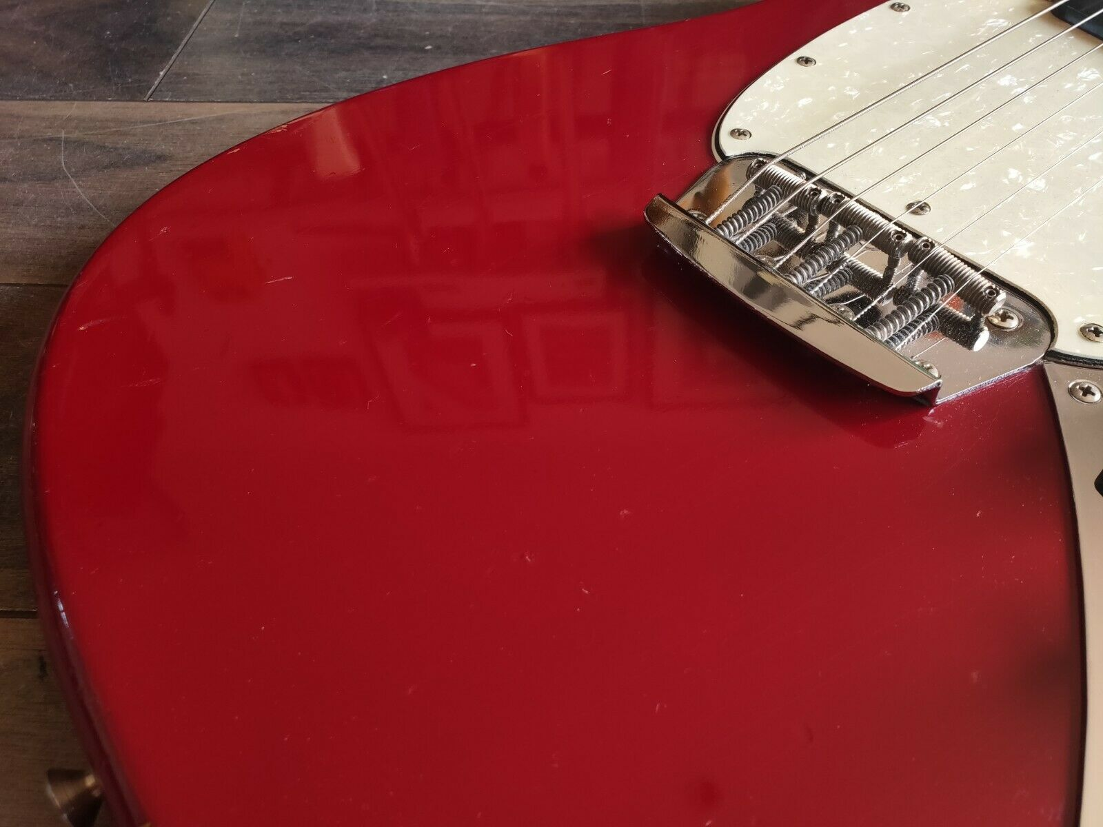1966 Fender USA Musicmaster II Vintage Offset Electric Guitar (Dakota Red)