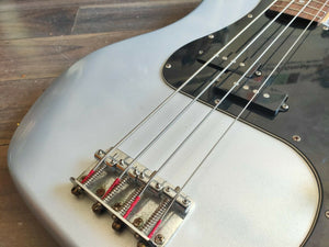 2000 Squier (by Fender) Precision Bass (Refinished Silver)