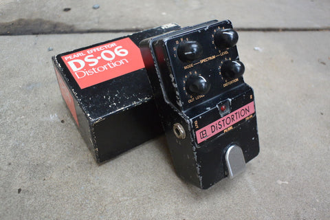 1980's Pearl DS-06 Distortion MIJ Japan Vintage Effects Pedal w/Box
