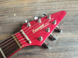 1984 Fernandes Japan BSV-55 Contemporary Flying V (Candy Apple Red)