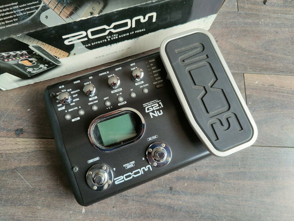 ZOOM G2.1Nu Guitar Multi Effects Pedal w/Box