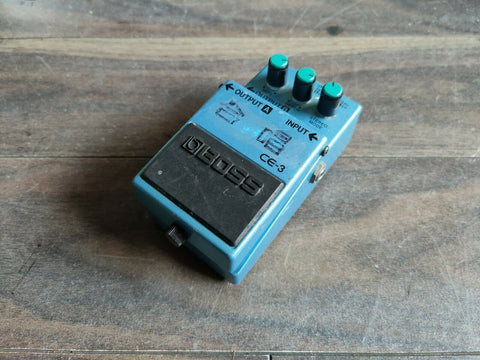 1989 Boss CE-3 Stereo Chorus Vintage Effects Pedal