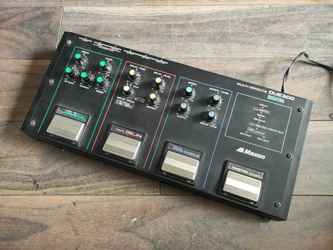 1980's Maxon/Ibanez DUE300 Digital Multi FX Effects Pedal (Metal/Delay/Chorus)
