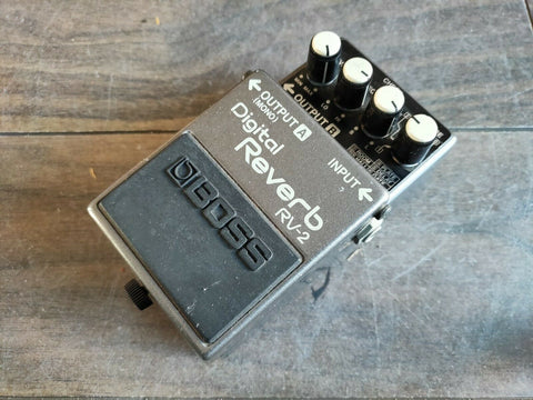 1988 Boss RV-2 Digital Reverb MIJ Vintage Effects Pedal