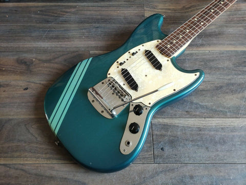 1972 Fender Competition Mustang (Blue) Vintage Guitar w/Case and Hangtags