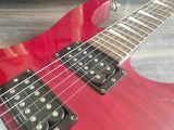 1990 Grover Jackson Japan Soloist HH Electric Guitar (Flame Red)