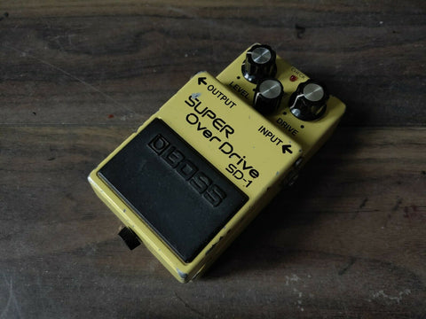 1984 Boss SD-1 Super Overdrive MIJ Vintage Effects Pedal