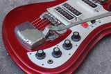 1960's Teisco K-3L Offset Electric Guitar (Red)