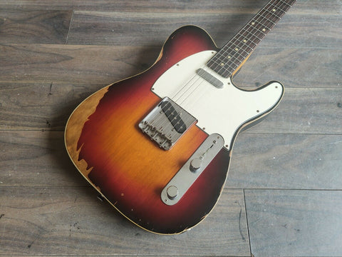 2008 Edwards Japan E-TE-110CTM/RE '62 Reissue Bound Telecaster (Relic Sunburst)