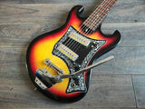 Vintage Angelica EG902 (Teisco Style) Korean Guitar w/Gold Foil Pickups