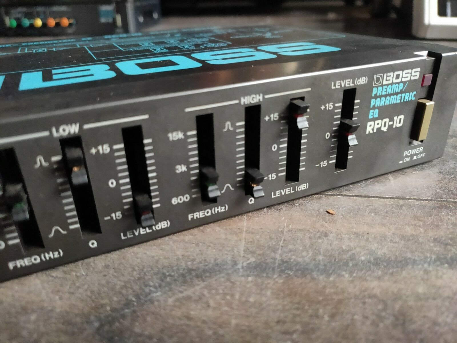 1980's Boss RPQ-10 Parametric EQ MIJ Japan Vintage Effects Rack