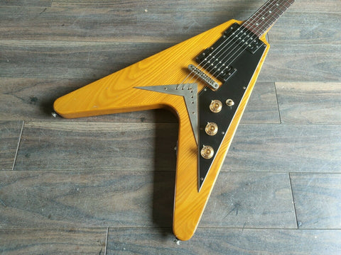 "1975 Greco Japan FV900 ""Korina"" Flying V (Natural) w/Hard Case"