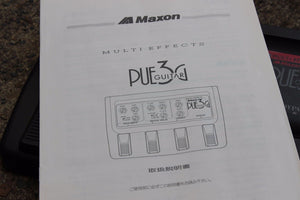 1980s Maxon PUE-3G Vintage Multi FX Effects Pedal w/Box