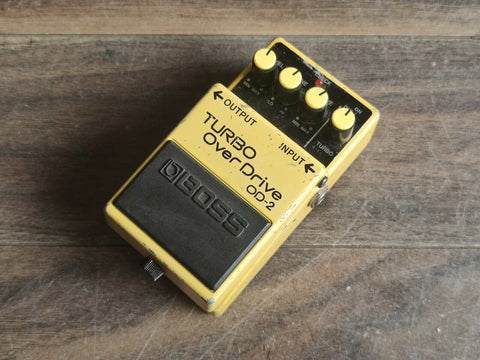 1989 Boss OD-2 Turbo Overdrive Vintage Effects Pedal