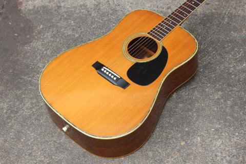 "1976 Aria W-25 ""Folk and Western"" Acoustic Guitar (Made in Japan)"