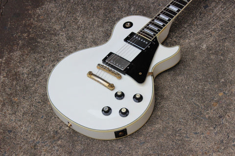 1988 Greco Japan Les Paul Custom Electric Guitar (Ivory)