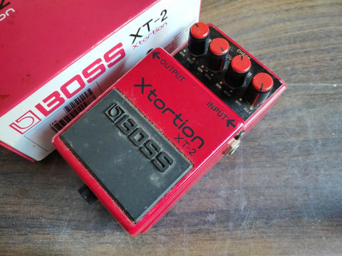 1996 Boss XT-2 Xtortion Distortion Vintage Effects Pedal w/Box