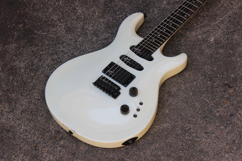 Greco GPH-60 PRS (Paul Reed Smith) Style HSS EMG Electric Guitar (White)