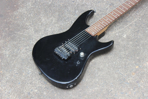 1986 Greco Japan BOM-60 Kahler Stratocaster Electric Guitar (Black)