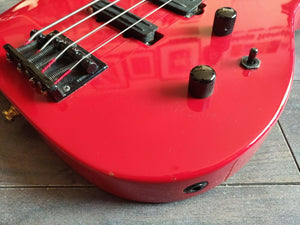 1980's ESP Japan M-IV PJ Bass Guitar (Made in Japan) (Red)