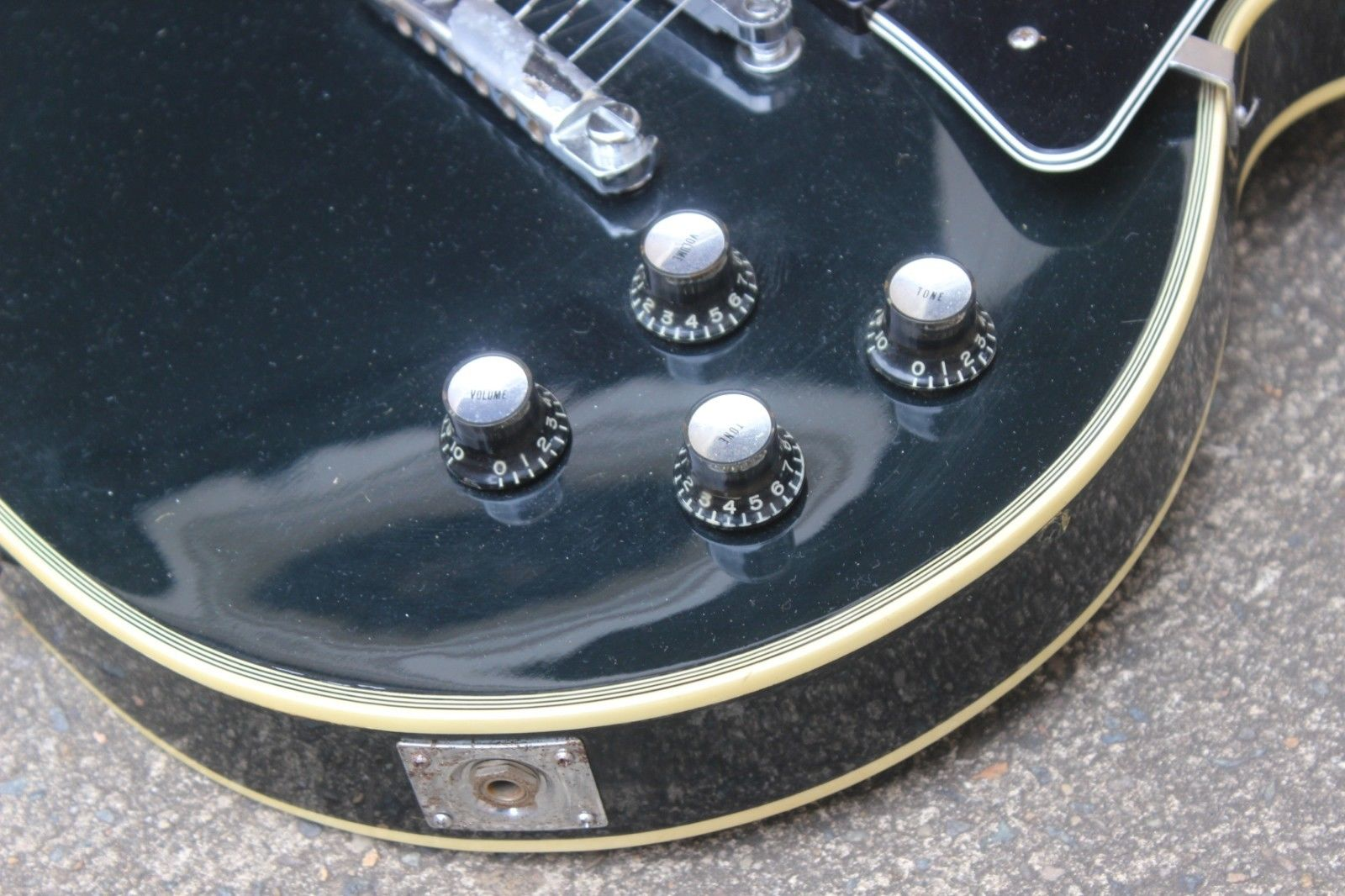 1972 Greco Japan EG-420B Les Paul Custom (Ebony)