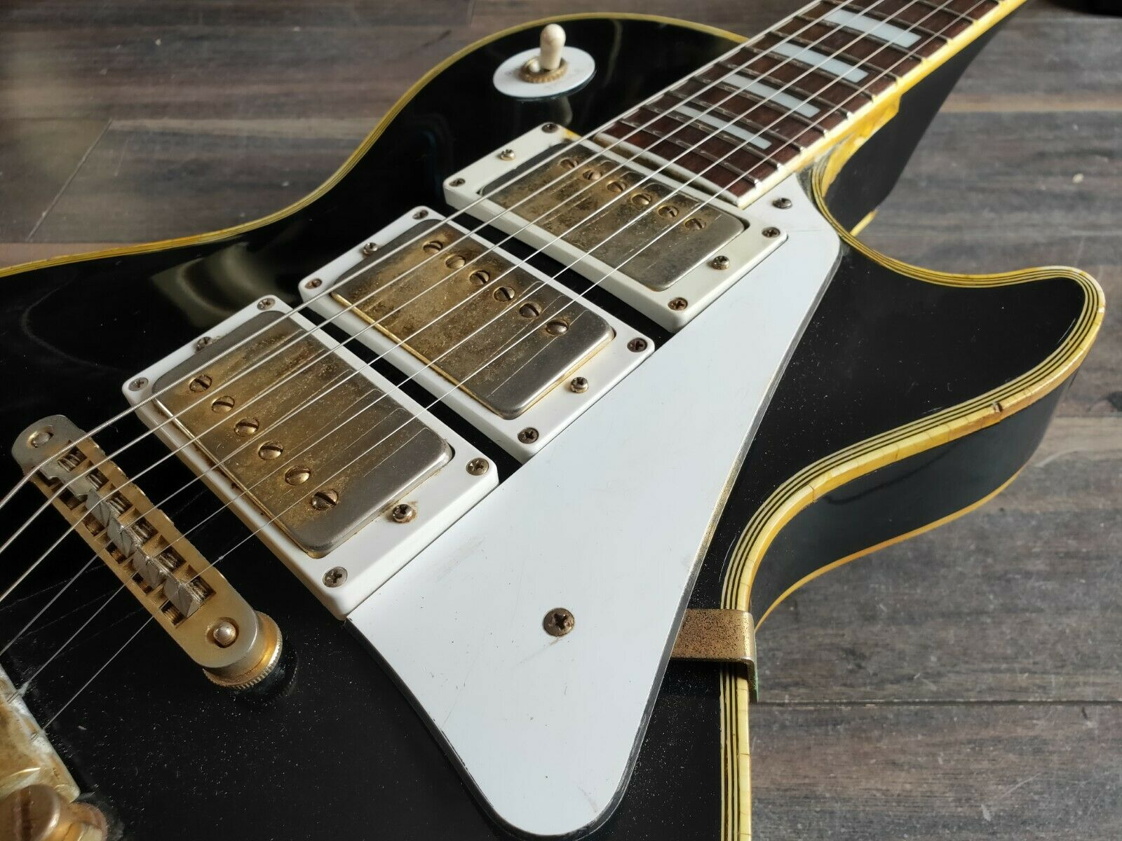 1977 Aria Pro II Japan LP600B Les Paul Custom (Black Beauty)