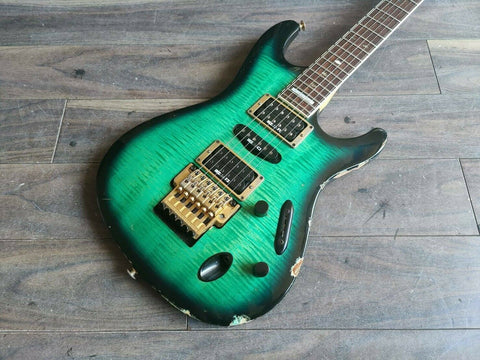1994 Ibanez Japan (Fujigen) S540FM S Series HSH (Royal Green Sunburst)