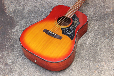 1970's Hotta Hummingbird Japan Dreadnought Style Vintage Acoustic Guitar