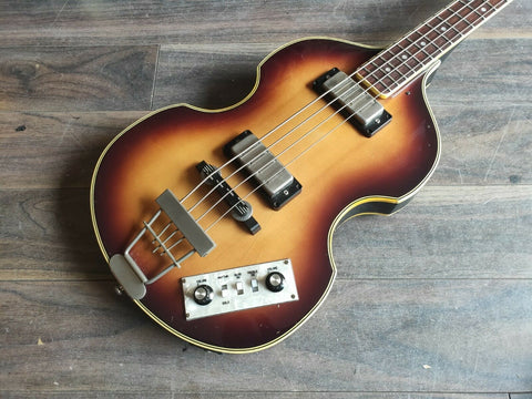 1981 Greco VB-500 Violin Beatle Bass (Made in Japan) w/Hard Case