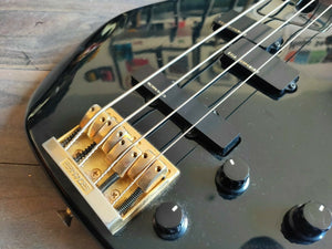1990's Fernandes Japan FRB-65 Revolver Active Bass (Black)