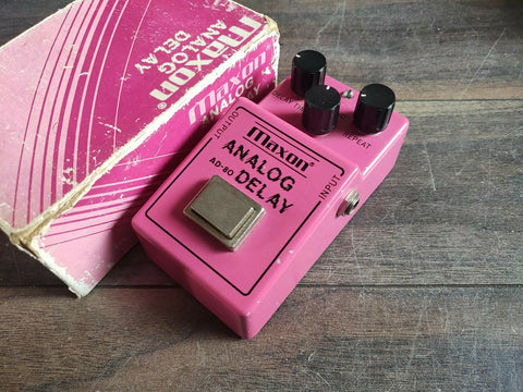 1981 Maxon AD-80 Analog Delay Vintage MIJ Japan Effects Pedal