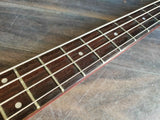 1987 Fernandes Japan FRB-60 PJ Revolver Bass (Trans Red)