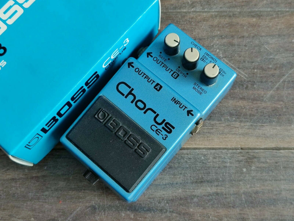 1989 Boss CE-3 Stereo Chorus Vintage Effects Pedal w/Box