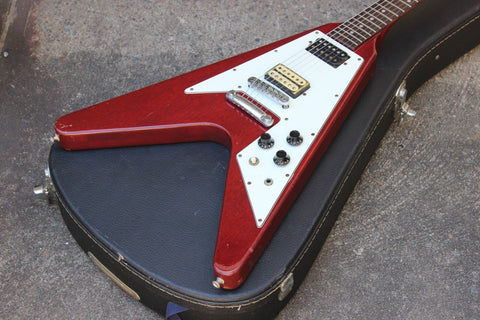 1978 Greco Japan FV-600WR Flying V (Cherry Red) w/Hard Case