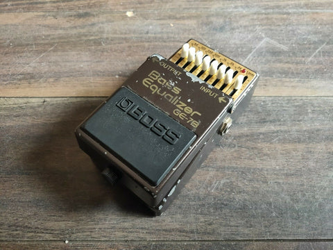 1987 Boss GE-7B Bass Graphic Equalizer EQ MIJ Japan Vintage Effects Pedal